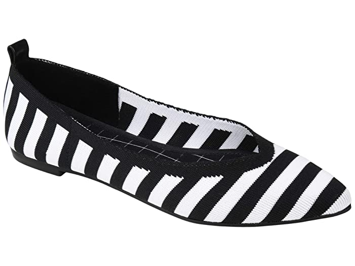 Retro Vintage Flats and Low Heel Shoes Journee Collection Comfort Foam Tayleen Flat Stripe Womens Shoes $39.99 AT vintagedancer.com