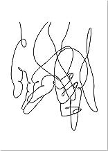 Panorama Póster Arte Lineal 21x30cm - Impreso en Papel
