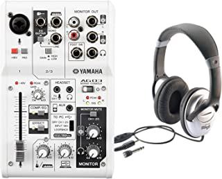Yamaha AG03 3-Input USB Audio Interface Mixer w/ Headphones