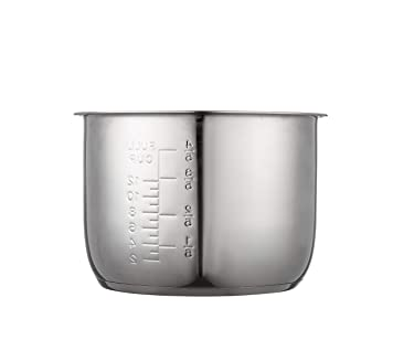 """""""GJS Gourmet Stainless Steel Inner Pot Compatible with 6 Quart Power Cooker XL, PPC770, PPC770-1, PPC771, PRO, WAL1, WAL2 and YBD60-100"""". This pot is not created or sold by Power Cooker."""