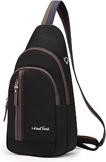 WindTook Sling Bag Shoulder Backpack for Walking Park Cycling (Black-1)