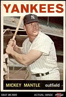 1964 Topps # 50 Mickey Mantle New York Yankees (Baseball Card) Dean's Cards 4 - VG/EX Yankees