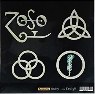 """4 symbols Led Zeppelin IV """"ZOSO"""" Inlay Sticker Decals for Guitar & Bass Body"""