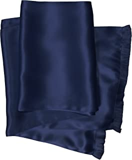 Classic Silk Aviator Scarf for Men - Double Layered Satin Silk - Royal Silk