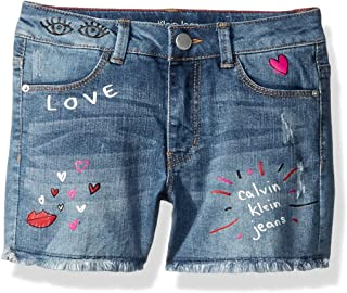Calvin Klein Little Girls' Denim Short
