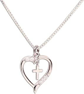 first communion cross necklace girl