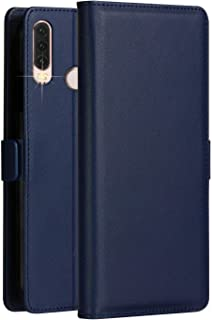 Huawei P30 Pro Case KumWum Leather Wallet Cover with Flip Folio Kickstand and 3 Card Slots Magnetic Latch Closure Full Body Protective Cover for P30pro (Blue)