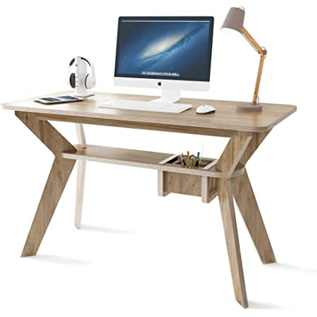 Amazon Com Small Desk For Home Office Study Bedroom Or Compact Space Desks Size 47 X23 6 X29 5 Perfect Writing Table Or Computer Desk With Inbuilt Storage Box Little Tables For Small Spaces Kitchen Dining