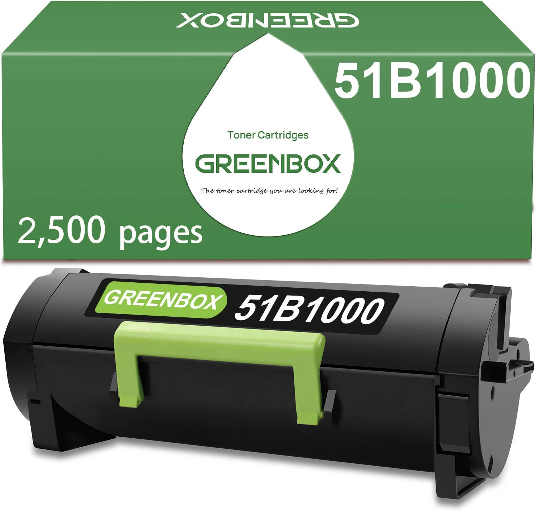 GREENBOX Compatible 贈答 Toner Cartridge Replacement 51B1 Lexmark セール品 for