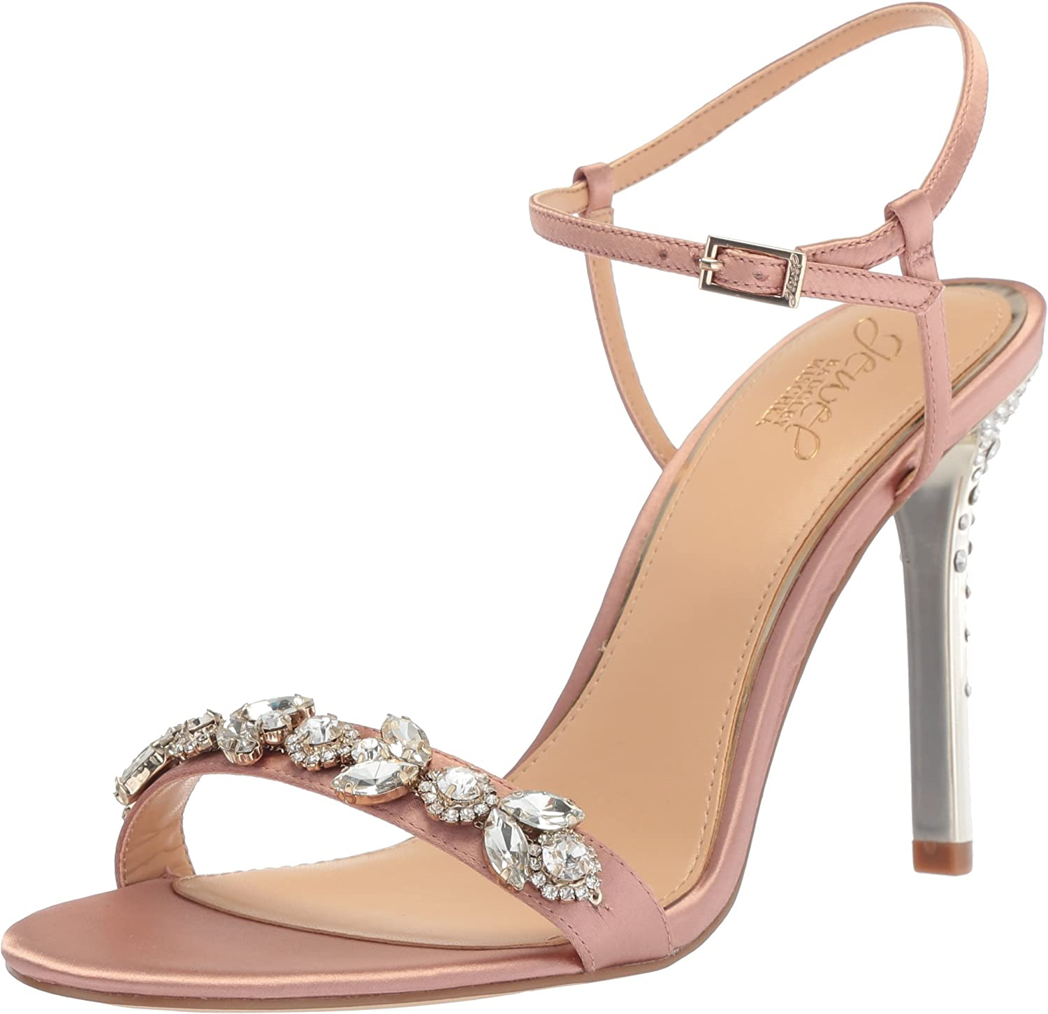 Badgley Mischka Womens Tex Heeled Sandal
