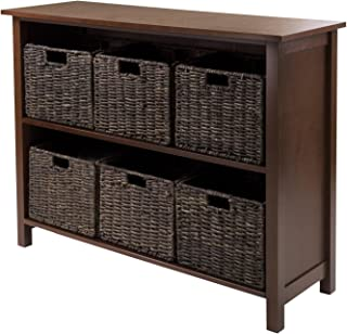 Granville 7Pc Storage Shelf, 2-Section Wide With 6 Foldable Baskets