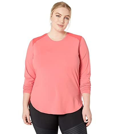 Columbia Plus Size Saturday Trailtm Knit Long Sleeve Shirt (Coral Bloom/Red Coral) Women