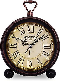 Amazon Com Quartz Desk Shelf Clocks Clocks Home Kitchen