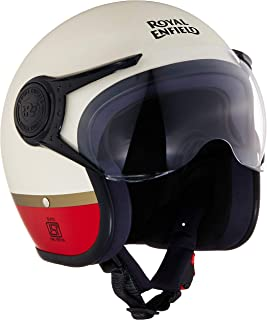 Royal Enfield Matt White Open Face with Visor Helmet Size (L)60 CM (RRGHEK000062)