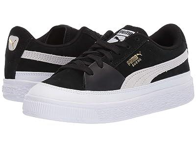 Puma Kids Suede Skate (Little Kid) (Puma White/Puma Black) Boys Shoes