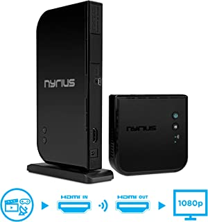 Nyrius Aries Home HDMI Digital Wireless Transmitter & Receiver for HD 1080p Video Streaming, Cable Box, Satellite, Bluray, DVD, PS3, PS4, Laptops, PC (NAVS500)