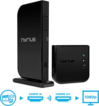 $179 Get Nyrius Aries Home HDMI Digital Wireless Transmitter & Receiver for HD 1080p Video Streaming, Cable Box, Satellite, Bluray, DVD, PS3, PS4, Xbox 360, Xbox One, Laptops, PC (NAVS500)