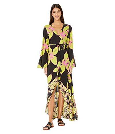 Maaji Tale Of Tales Kimono Cover-Up (Artemis Lime Floral) Women