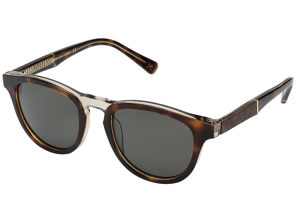 Shwood Francis Acetate Wood (Brindle/Elm Burl/G15) Athletic Performance Sport Sunglasses