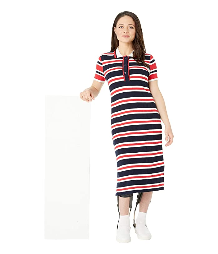 Tommy Hilfiger Adaptive Polo Dress with Magnetic Buttons (Masters Navy/Multi) Women