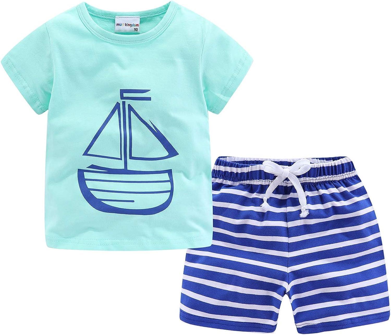 Mud Kingdom Little Boys Shorts Set Beach Outfits Holiday Summer