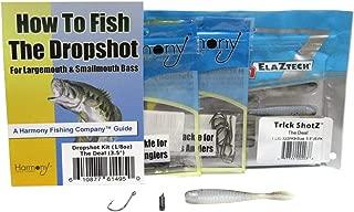 Dropshot Bass Fishing Kit - Harmony 1/8oz Tungsten Dropshot Weights (6pk) + Razor Series Dropshot Hooks (10pk) + Z-Man Trick Shotz (3.5