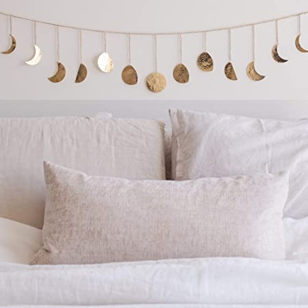 Moon Decor Wall Decorations, Handmade Hammered Detailing, Boho Accents Wall Decor, Moon Phases Wall Art, Moon Phases Wall Hanging, Bohemian Décor for Bedroom, Home, Living Room Apartment