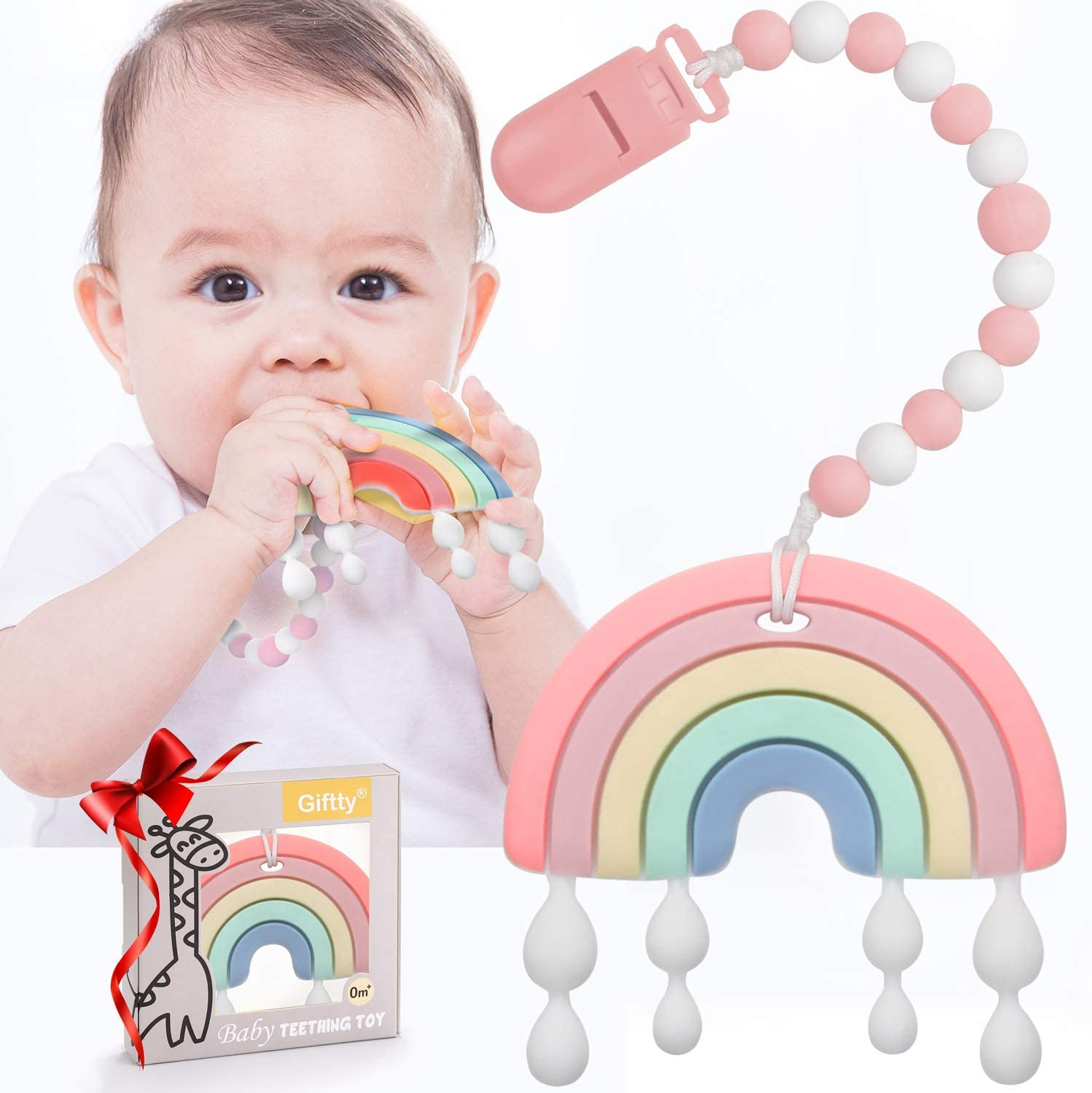 Baby Teether Teething Rainbow Toys 25% OFF T Babies Infant for Charlotte Mall BPA-Free