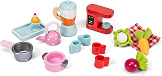 Le Toy Van Tea Time Kitchen Accessory Pack Playset Premium Wooden Toys for Kids Ages 3 Years & Up