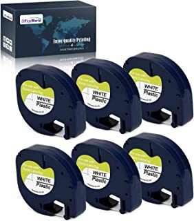 OfficeWorld 6 x Compatible DYMO LetraTag 91201 S0721610