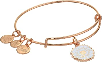 Alex and Ani Color Infusion Bangle Bracelet Rose Gold/She`s A Wildflower One Size