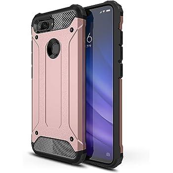 AOBOK Funda Xiaomi Mi 8 Lite, Oro Rosa Moda Armadura Híbrida ...
