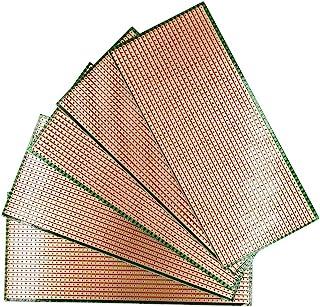 YUNGUI 5 Pieces 6.5 X 14.5cm Prototype Stripboard,DIY Weld Soldering Prototype Copper Strip PCB Printed Circuit Board