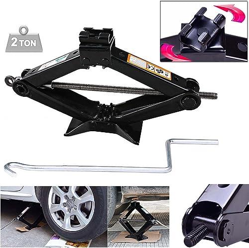 wholesale Bowoshen 2 Ton Scissor Jack 90MM to 360MM 2021 Lift Range Wind Up & Effortless sale Speed Handle for Car Van Garage Home Emergency online