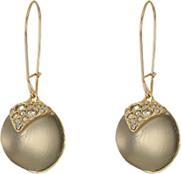 Alexis Bittar - Crystal Encrusted Origami Inlay Dangling Sphere Kidney Wire Earrings