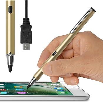 (USB充電対応) 超極細1.9mm スタイラスペン (ゴールド) Renaissance ZERO 2 ルネサンス 零弐 (iPhone/iPad/iPad mini 専用) タッチ感度の調整機能付 充電池いらずのバッテリー内蔵型 スリム スマート