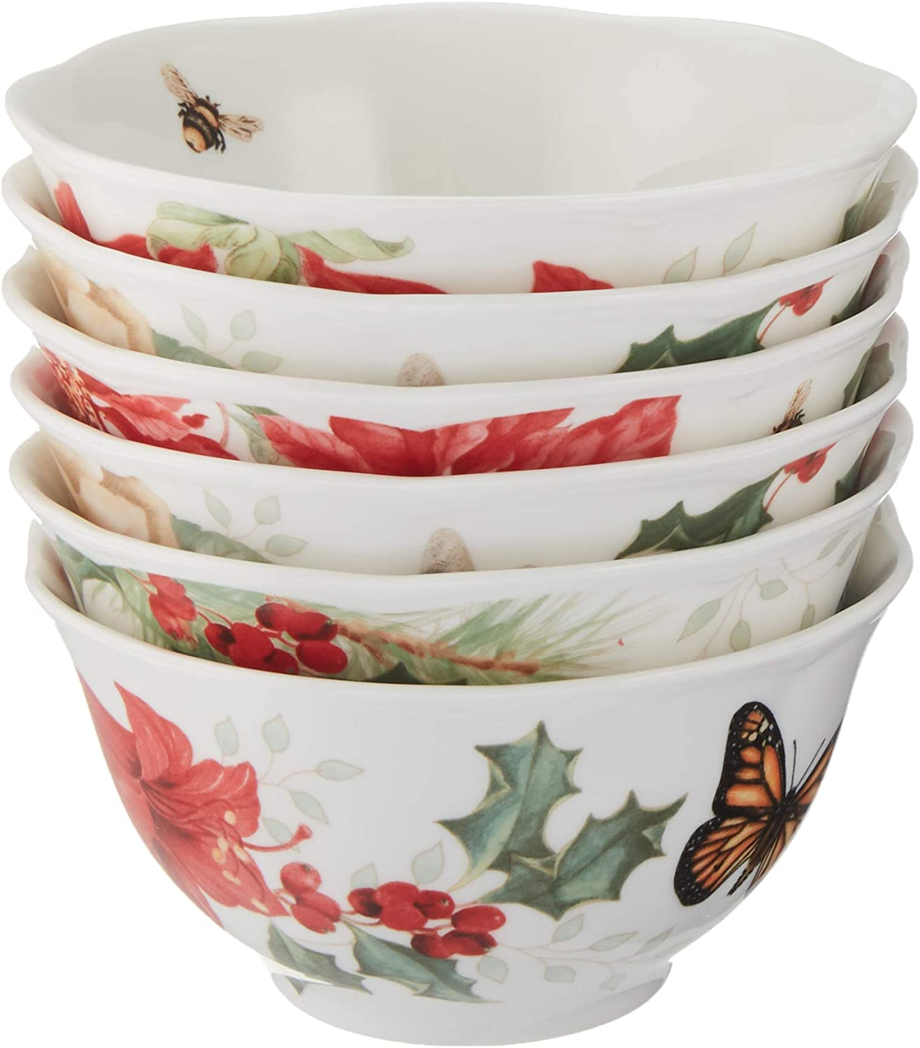 Lenox 880092? Butterfly Meadow Holiday Rice Bowls, Multicolor
