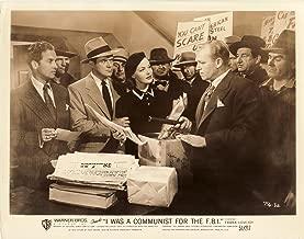 I WAS A COMMUNIST FOR THE FBI (1951) Set of 8 vtg orig 8x10 sepia-tint photos NF