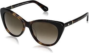 Kate Spade Women's Sherylyn/s SHERYS Cateye Sunglasses, HAVANA BLACK/BROWN GRADIENT, 54 mm