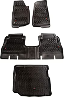 Rugged Ridge 12988.05 Floor Liner Kit, Front/Rear/Cargo 18-18 Jeep Wrangler Unlimited JLU, 3 Pack