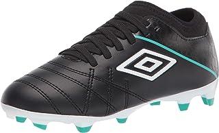 Black//Green Umbro Velocita IV Club FG Junior Soccer Shoe 5 US Unisex Little Kid