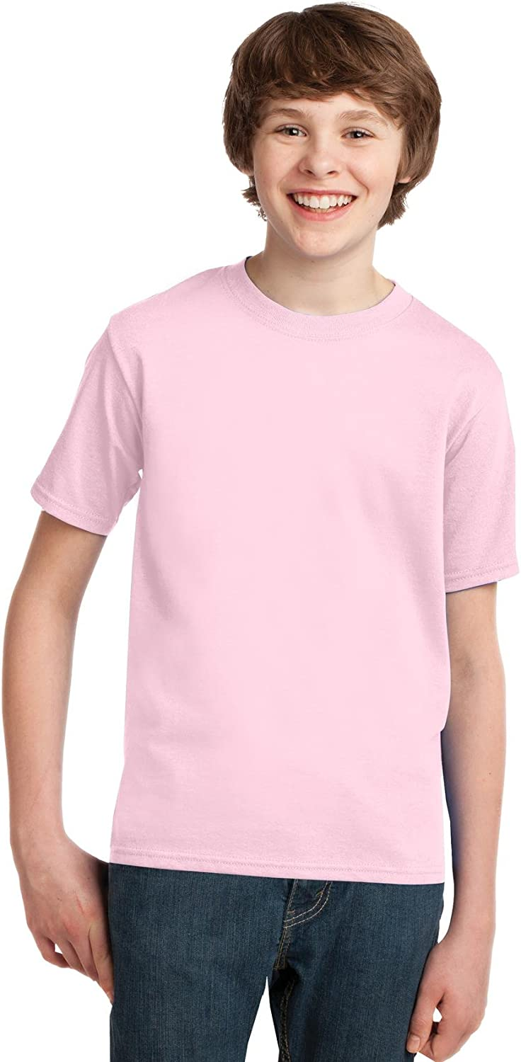Port & Company - Youth Essential T-Shirt, PC61Y, Pale Pink, L