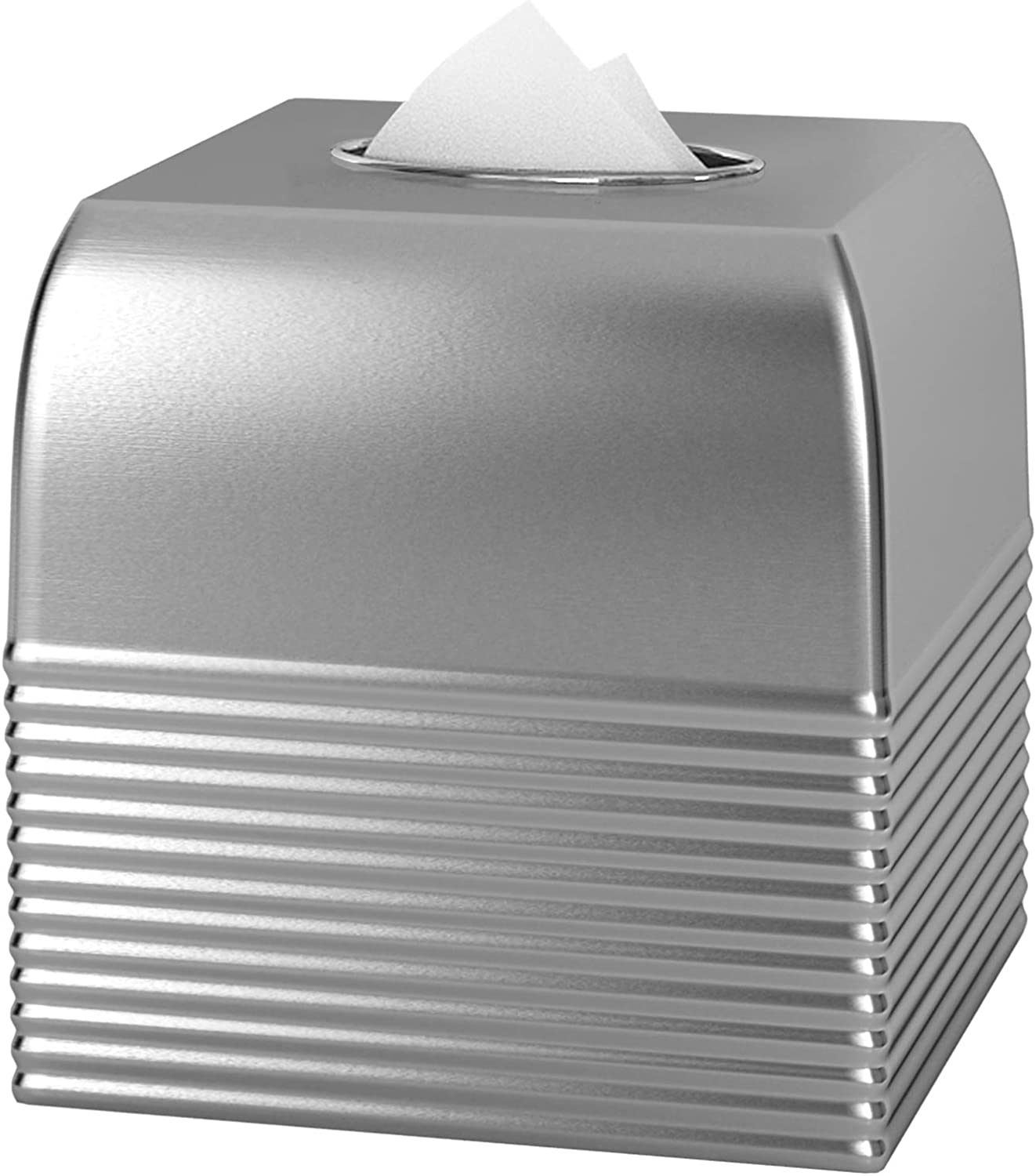 nu steel Boutique Super Special SALE held Tissue Box Cover of New mail order Ribbed Our Me Part Arvada
