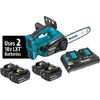 "Makita XCU02PT1 18V X2 (36V) LXT Lithium-Ion Cordless 12"" Chain Saw Kit with 4 Batteries (5.0Ah)"