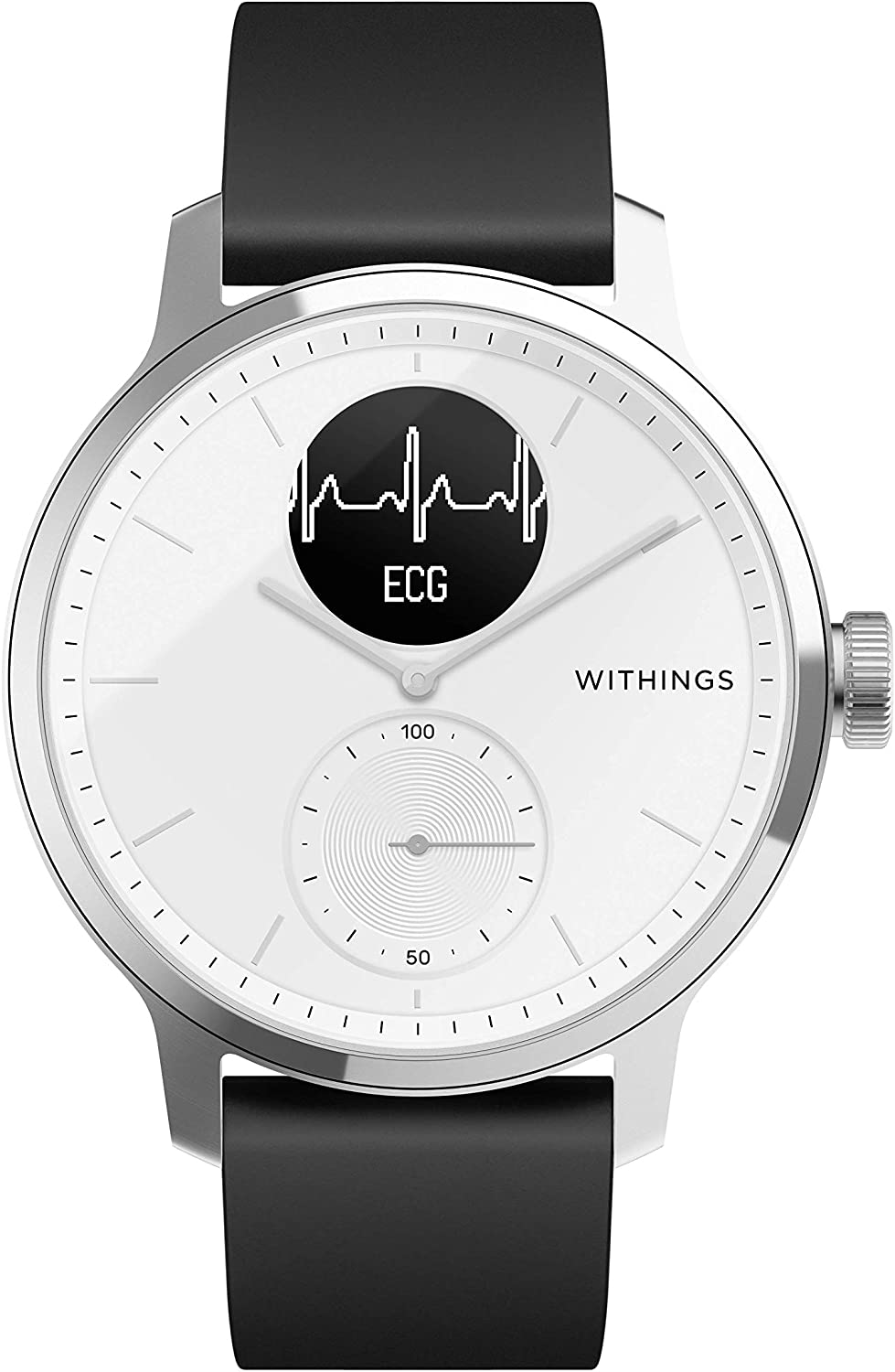 Withings Scanwatch 42mm Montre Connectée Hybride avec ECG