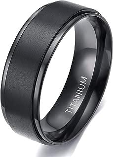 4mm 6mm 8mm 10mm Black Titanium Rings Wedding Band Matte Comfort Fit for Men Women