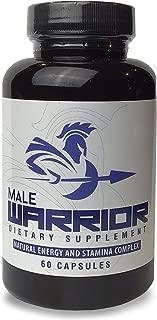 Male Warrior | Maximum Strength Libido Enhancer | L-Arginine, Maca Root & Tribulus | Increase Stamina & Endurance | Proprietary Blend | 60 Capsules, 30 Servings
