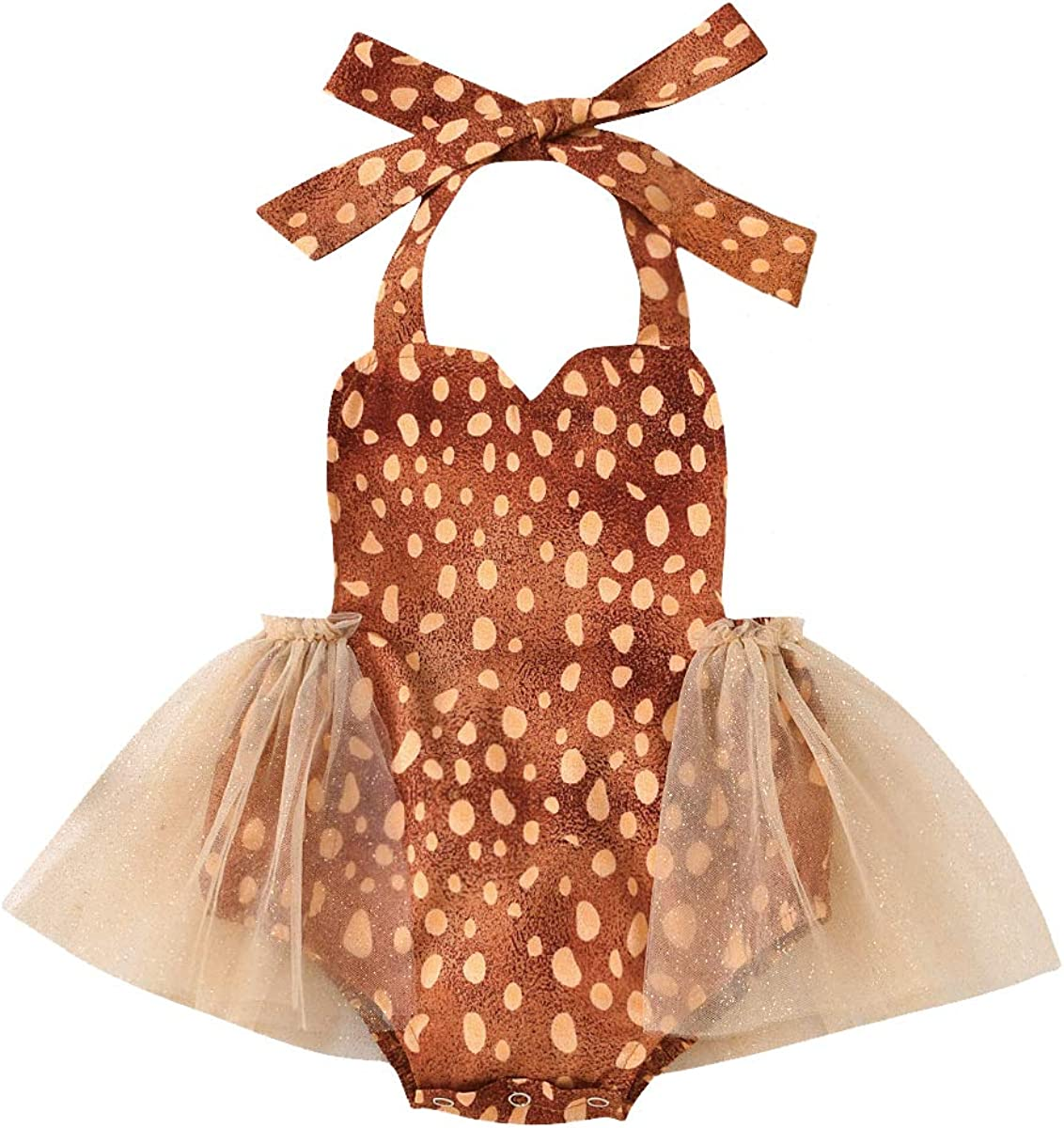 Toddler Baby Halloween Outfit Litter Girls Dresses Ghost/Thrukey Print Tutu Romper Skirts Set Thanksgiving Dress