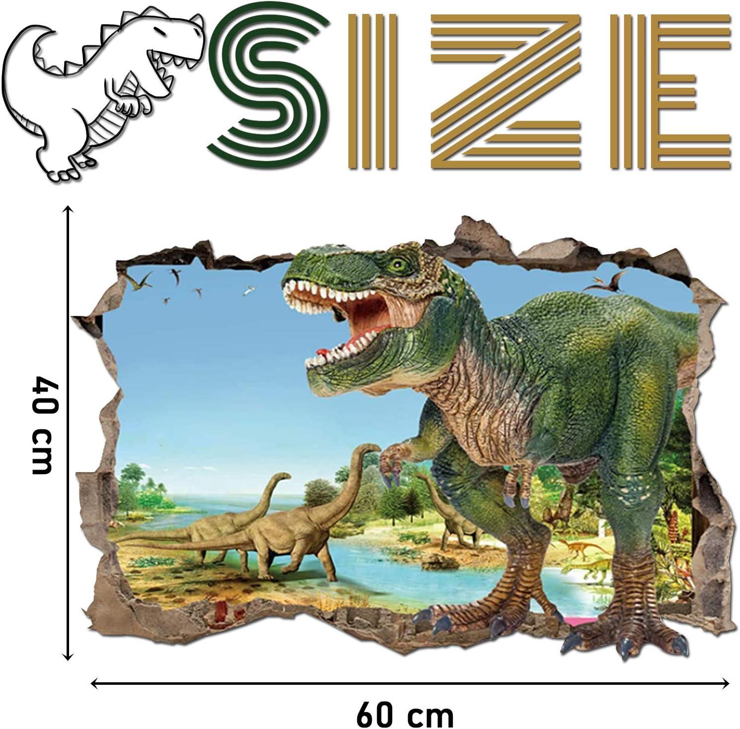 para Infantiles Habitaci/ón Sal/ón Dormitorio B Vinilos Dinosaurios Agrietada Calcoman/ías de Pared Adhesivos de Pared de Dinosaurio 3D Muros Rotos Pegatinas de Pared Dinosaurio