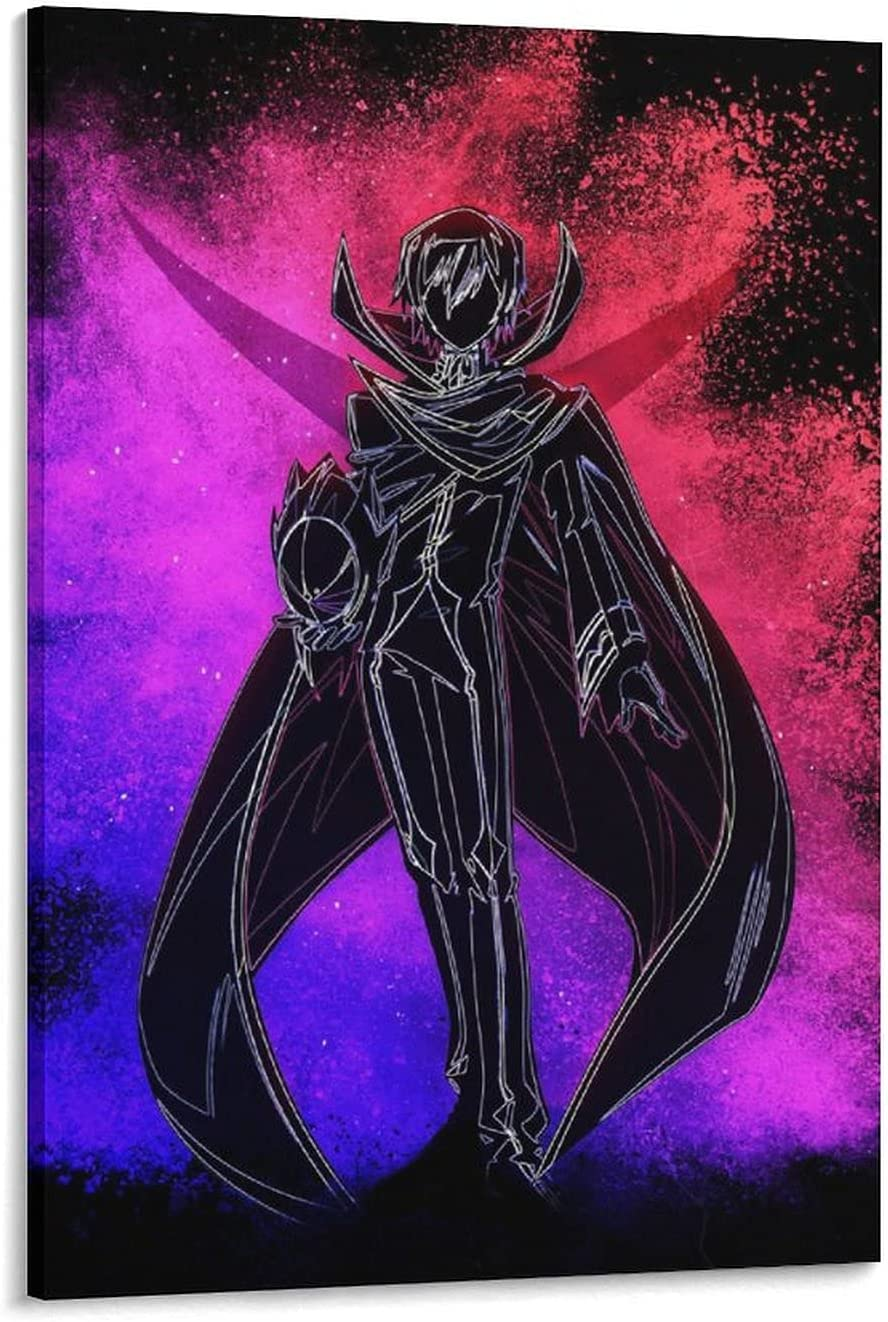 Anime Poster Code Geass Lelouch Special price on Sale price Paint Print Canvas Lamperouge